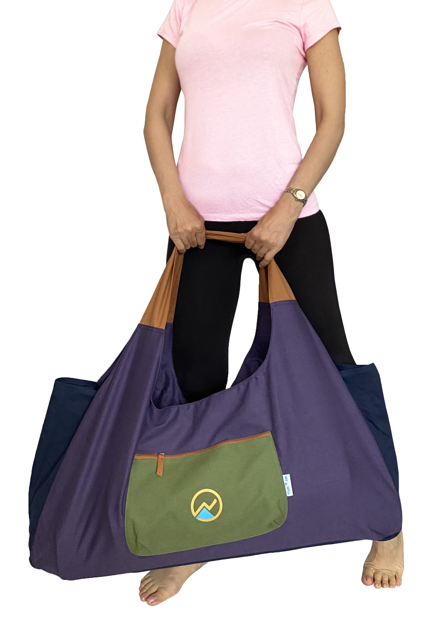 Purple Brand New Yoga Mat Bag from Yogamatters with strap and zip 100/% cotton